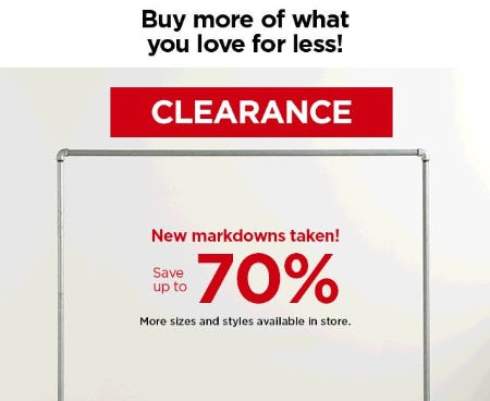 Save Up to 70% Clearance from Kohl's