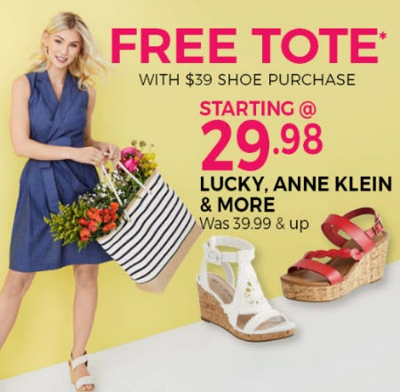 Free Tote with $39 Shoe Purchase from Stein Mart