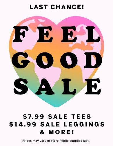 Feel Good Sale