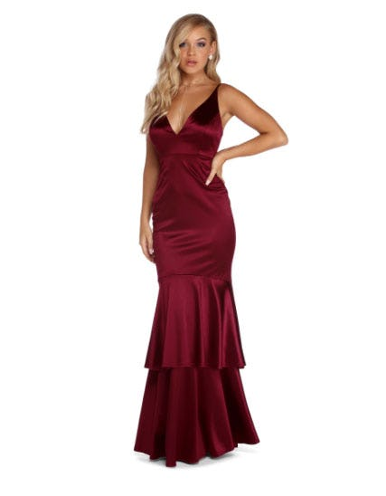 Kalel Formal Satin Mermaid Dress from Windsor