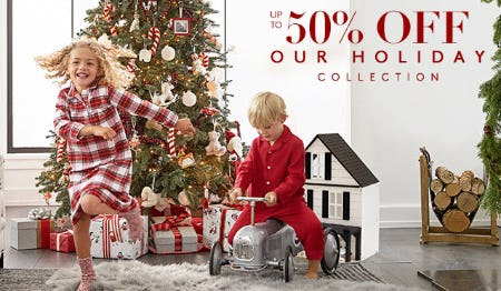 Up to 50% Off on Our Holiday Collection from Pottery Barn Kids