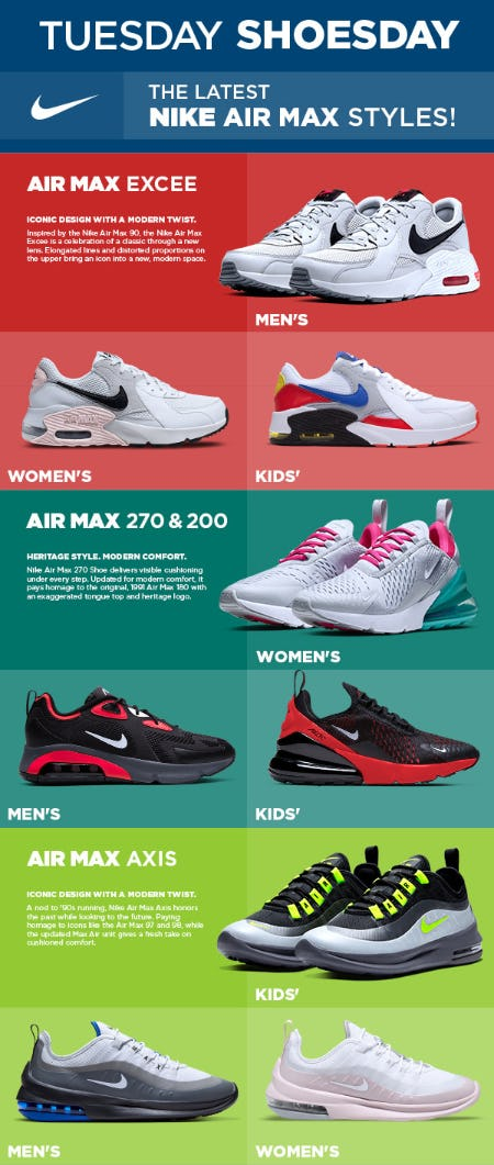 The Latest Nike Air Max Styles from Modell's Sporting Goods