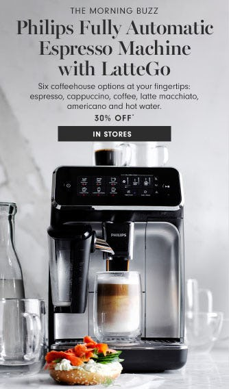 30% Off Philips Fully Automatic Espresso Machine with LatteGo from Williams-Sonoma
