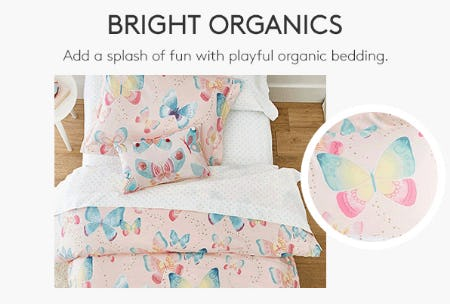 Playful Organic Bedding from Pottery Barn Kids