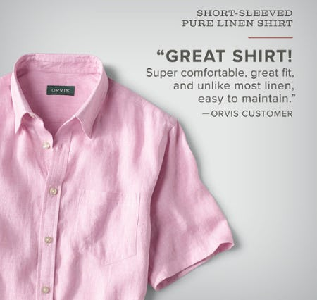 Our Short Sleeved Pure Linen Shirt from Orvis