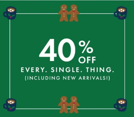 40% Off Every Single Thing from Hanna Andersson