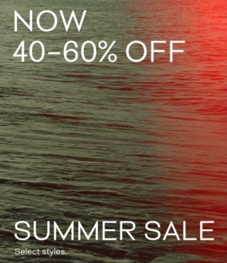 Summer Sale now 40–60% Off