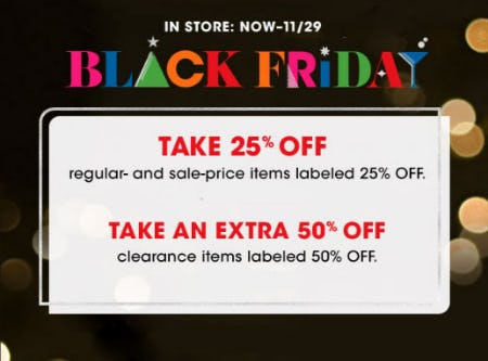 25% Off Regular & Sale Price Items from Bloomingdale's