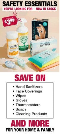 Safety Essentials: Starting at $3.99 from Burlington