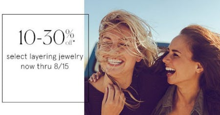 10-30% Off Select Layering Jewelry