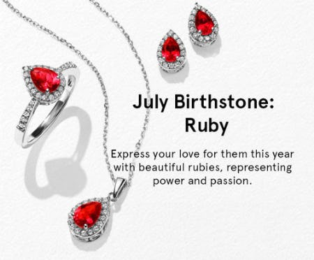 July Birthstone: Ruby from Kay Jewelers