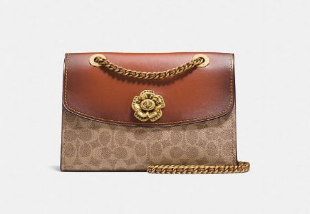 Parker In Signature Canvas With Tea Rose Turnlock from Coach