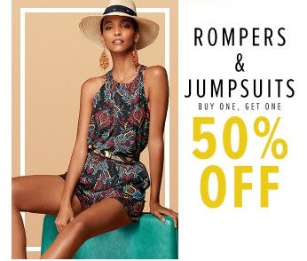 Rompers & Jumpsuits Buy One, Get One 50% Off from New York & Company