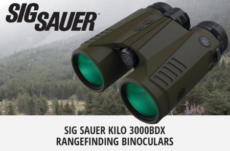 Sig Sauer® KILO® 3000BDX™ Rangefinding Binoculars from Cabela's