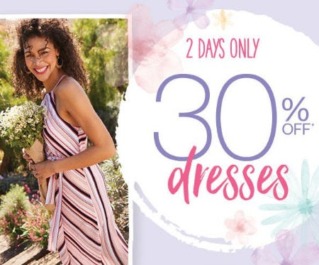 30% Off Dresses from maurices