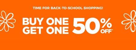 BOGO 50% Off Back-To-School Sale from Rack Room Shoes