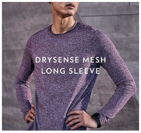 Sweat Without Limits in Drysense Mesh Long Sleeve