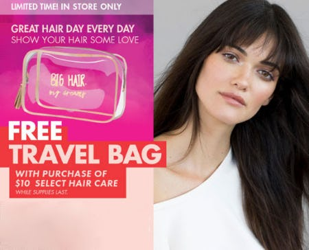 Free Travel Bag with $10 Hair Care Purchase from Sally Beauty Supply