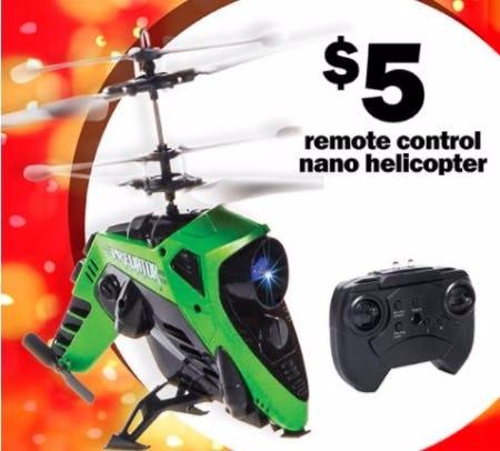 $5 Remote Control Nano Helicopter
