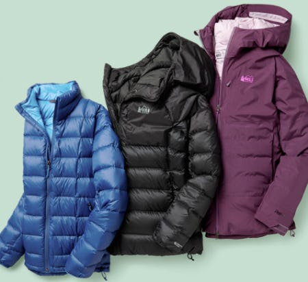 REI Co-op Brand Down Jackets from REI
