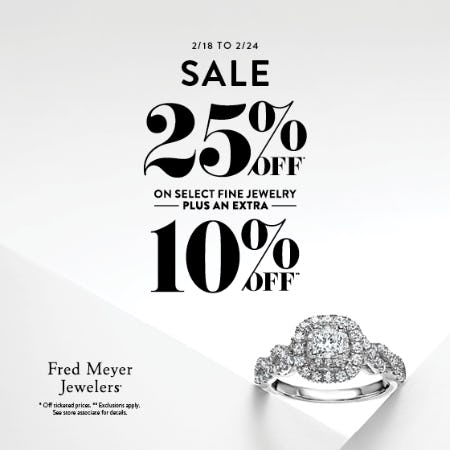 February 7 Day Sale from Fred Meyer Jewelers