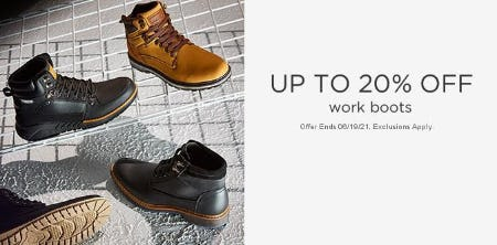 Up to 20% Off Work Boots from Sears