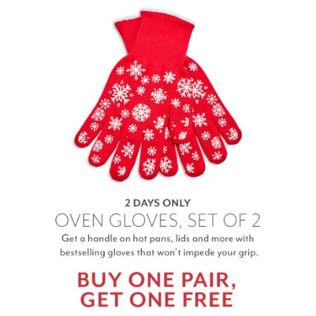 Buy One Pair, Get One Free Oven Gloves from Sur La Table
