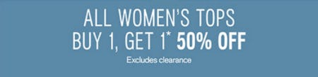 BOGO 50% Off Women's Tops