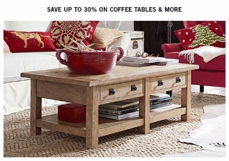 Sale At Pottery Barn - Pottery barn red coffee table