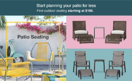 Patio Seating Starting at $150 from Target