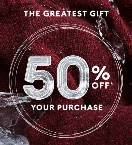 50% Off Your Purchase from Banana Republic