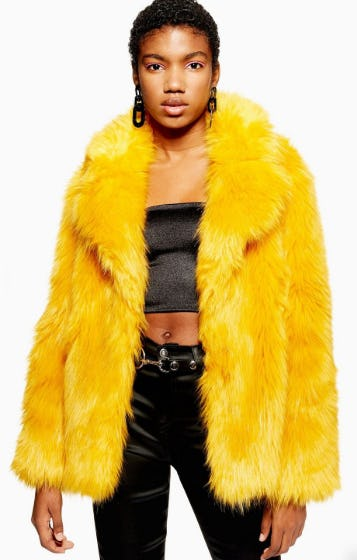 Faux Fur Coat from Topshop