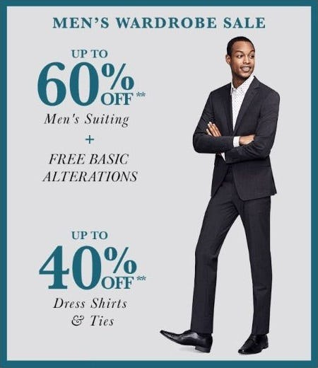 Men's Wardrobe Sale from Lord & Taylor