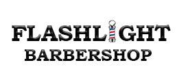 Flashlight Barber Shop Logo