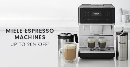 Miele Espresso Machines up to 20% Off