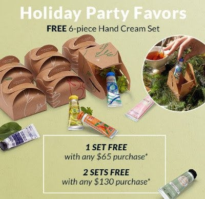 Free 6-Piece Hand Cream Set