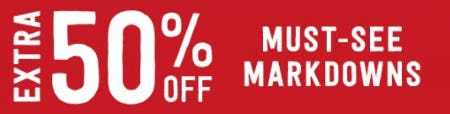 50% Off Must-See Markdowns