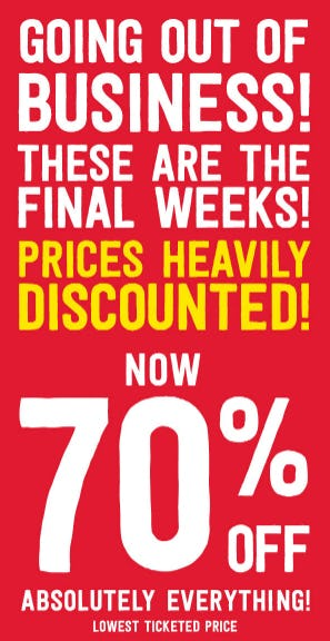 70% Off Everything from Crazy 8