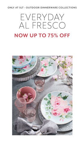 Up to 75% Off Outdoor Dinnerware Collections from Sur La Table