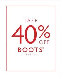 Take 40% Off Boots