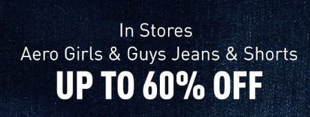 Up to 60% Off Jeans & Shorts from Aéropostale