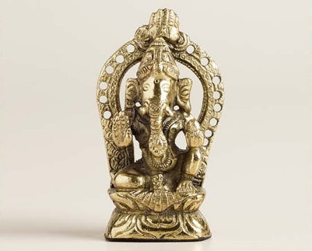 Metal Ganesh Statue from Cost Plus World Market