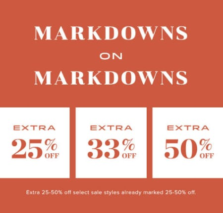 Extra 25-50% Off Markdowns