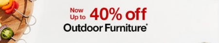 Outdoor Furniture Now up to 40% Off from Crate & Barrel