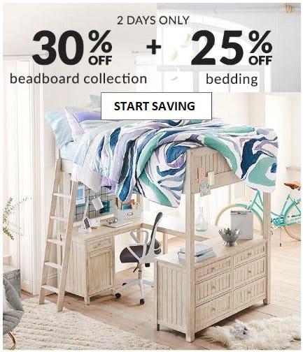 30% Off Beadboard Collection + 25% Off Bedding