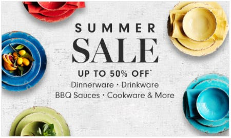 Up to 50% Off Summer Sale from Williams-Sonoma