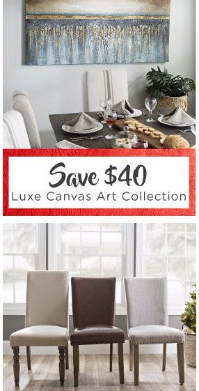 Save $40 on Luxe Canvas Art Collection