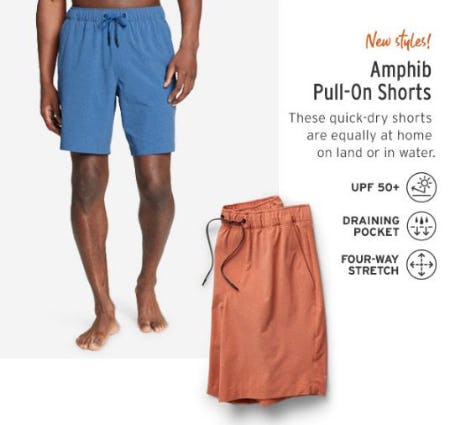 New Styles: Amphib Pull-On Shorts from Eddie Bauer