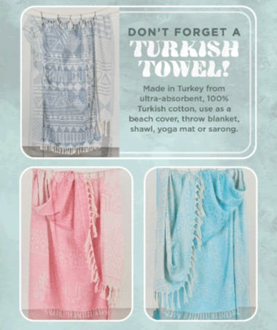 New Turkish Towels from Earthbound Trading Company