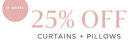 25% Off Curtains + Pillows from West Elm